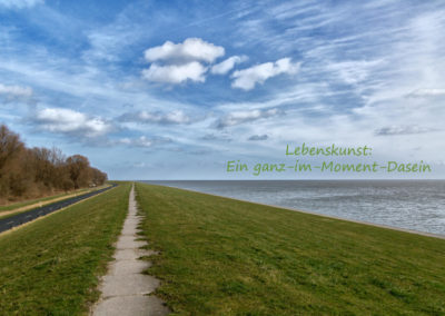 Deichspaziergang in Wilhelmshaven, Weltnaturerbe niedersächsisches Wattenmeer
